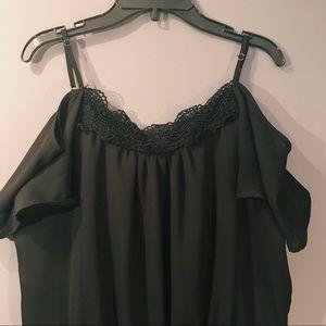 Decree Pants - Decree Black Off the Shoulder Romper